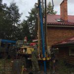 Бурение скважины на воду, п. Морское, октябрь 2019 г.